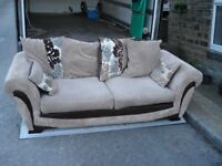 three seater sofa / settee mint condition