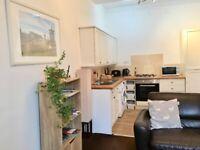 1 bedroom, 1 box room furnished flat