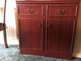 Mahogany dvd/cd cupboard