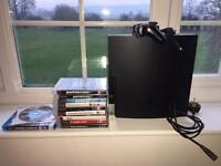 PlayStation 3 Slim 9 games and 3 films