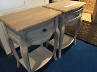 2 x Designer by Mindy Brownes Tall Bedside Tables with Drawers Total rrp £599