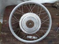 Dahon Roo Electric folding bike rear wheel and integral electric motor