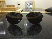 Genuine Ray-Ban Aviator Sunglasses RB8301 Gunmetal/Carbon Fibre with Silver polarised lenses.