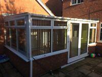 Conservatory UPVC doors & windows & plycarb roof