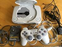 PS1 Slim White + 1 Controller + Games