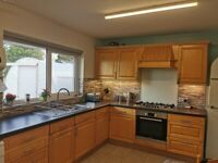 Beechwood Kitchen with Solid Wooden Doors and Appliances