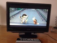 "19"" TOSHIBA LED TV (WITH BUILT IN DVD PLAYER & FREEVIEW) & REMOTE CONTROL ***(COLLECTION ONLY)!!***"