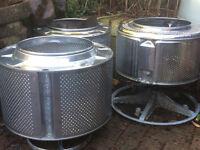 Washing Machine Drum Fire Pit Garden Patio Heater Chimera Wood Barbecue BBQ Pet Waste Burner Bin