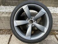 Genuine Audi 19 inch Rotor alloy with Goodyear Eagle F1 tyre