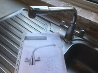 Franke kitchen tap and basin - used.
