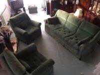 Three piece suite ex FISHPOOLS excellent condition
