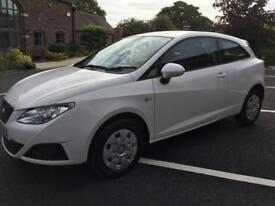 Seat Ibiza 1.4 TDI S 3dr [AC] (white) 2009 fsh 2 former keepers diesel value free road tax bargian