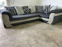 Grey dfs corner sofa, couch, suite, furniture 🚛🚚🚛