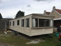 Static caravan, 36' x 12', 2 bedrooms, off site, very tidy condition