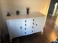 Vintage Sideboard / Chest Painted in White
