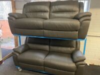 NEW EX DISPLAY LAZYBOY WANSTENDS GREY 3 + 3 SEATER ELECTRIC RECLINER SOFAS 70%Off RRP