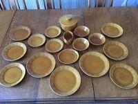 Vintage Portmeirion Totem Dinnerware - Brown