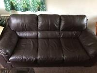 DFS 3 Seat Leather Sofa
