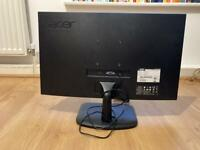 Perfect condition/hardly used ACER 20x12 inch monitor