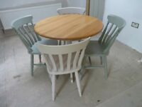 Kitchen dining table and four chairs