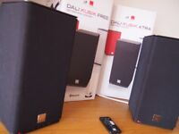 DALI KUBIK FREE + EXTRA BLUETOOTH WIRELESS STEREO SPEAKERS, BLACK, BOXED & VGC, RRP £899 NEW