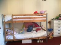 bunk beds and mattresses