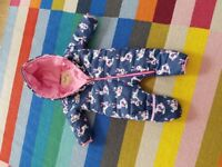 Nearly new Hatley baby snowsuit 9-12 months