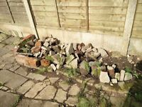 FREE small, medium and large garden decorative stones / boulders / rocks / bricks for your pond.