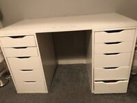 IKEA Alex drawers + free table top