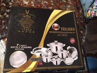 VERSACE KOCH SET 17 pcs cookware set with thermo knob