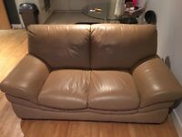 2 x two seater sofas. Leather sofa. £75 for both.