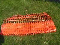 Plastic Orange Mesh Barrier safety Fencing
