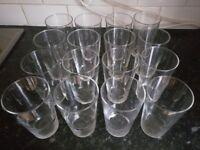 Set of 16 Arcoroc Drinking Glasses