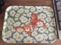 Tray with cat design
