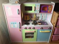 Solid Childs wooden kitchen with loads of extras in excellent condition