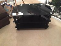 Black Glass TV Stand in great condition £20 Collection Only
