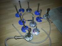 Job lot of bunsen burners lab equipment natural gas laboratory