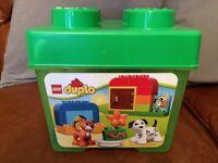 LEGO Duplo brick set in storage box, excellent condition