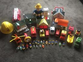 Fireman Sam vehicles and buildings