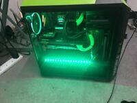 Gaming PC W/ 2 Monitors, HTC Vive, Keyboard, Mouse, Microphone, headset, Webcam, Mixer