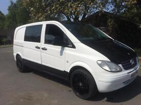 MERCEDES VITO DIESEL WHITE SWB 6 SPEED CREW CAB WHITE NO VAT!!!