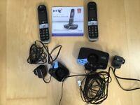 2 BT cordless phones BT 8600 digital cordless phones with answering machine