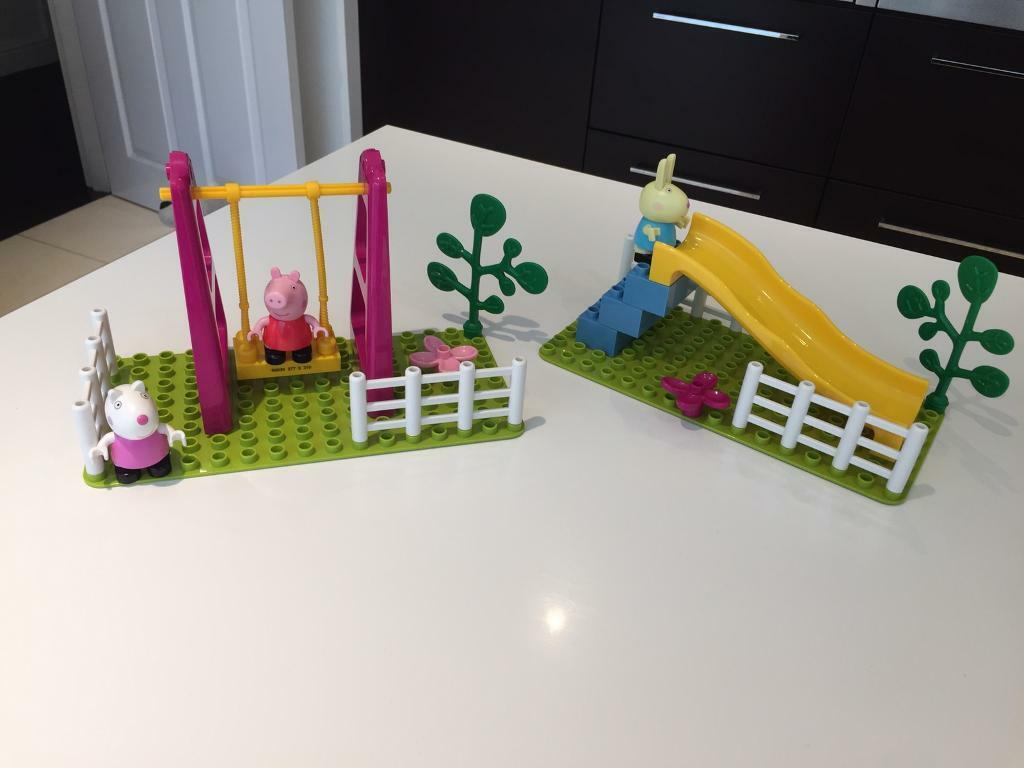 Peppa pig construction sets £12 for both