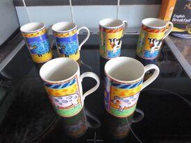 6 x Farm Animal Cups - Dunoon (Farmyard)