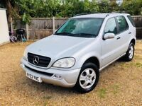 MERCEDES BENZ ML 2.7 DIESEL AUTOMATIC. SERVICE HISTORY.