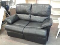 Leather reclining 2 seater sofa