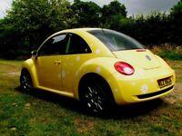 2009 Vw Beetle 1.6 Luna * Sunflower Yellow * FSH * 1 Previous Owner * a3 golf polo mini fabia focus