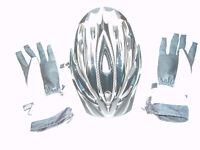 CYCLING HELMET AND GLOVES -- AS NEW