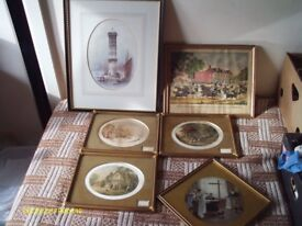 6 PICTURES - LITHOGRAPH BY W.HERDMAN (1856), TROTTING CRACKS OF PHILADELPHIA & 4 PRINTS