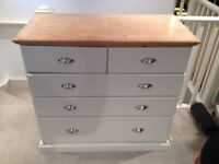 Beautifully restored Wooden Carpenter's Chest with Drawers 22in x 39.5in x 44in